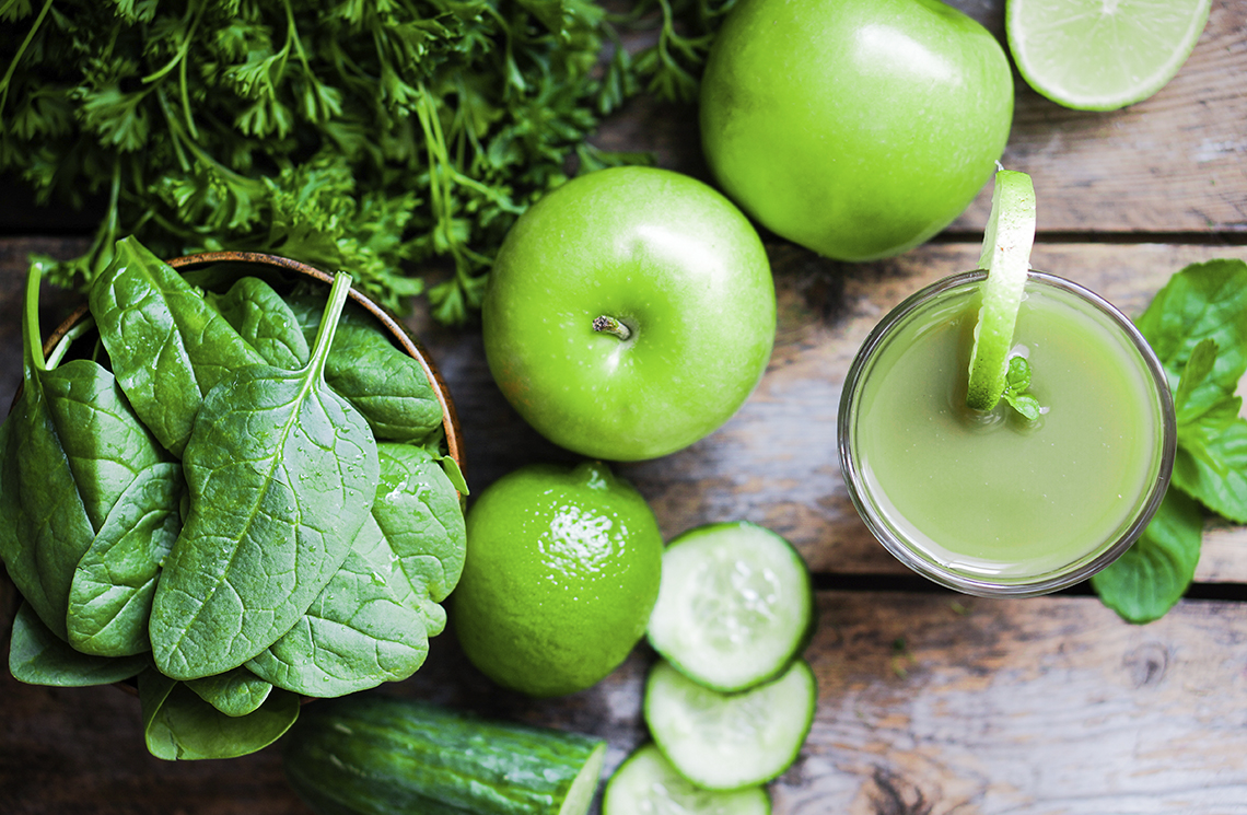 CUCUMBER, SPINACH, GREEN APPLE, LIME