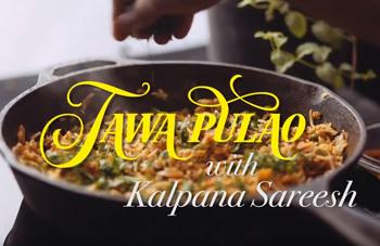 Tawa Pulav with freshly ground pav Bhaji masala