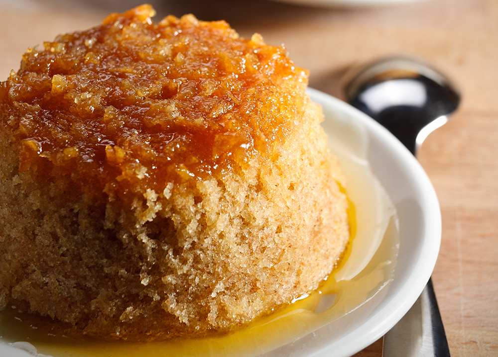 Carrot and Ginger steamed pudding